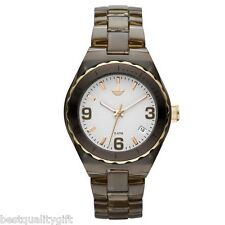 NEW ADIDAS CAMBRIDGE ACRYLIC BROWN+GOLD WOMEN'S WATCH+DATE ADH2553
