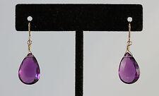 Greenwood Designs Purple Quartz 14k gf Gold Hook Earrings