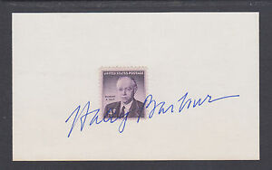 Haley Barbour, Chairman Republican National Committee, signed 3x5 card & letter