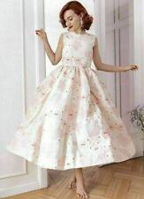 Simone Rocha X H&M HM Silk-Blend Cloqué Dress Cream Floral Pink UK 2 4 6 8 10 14