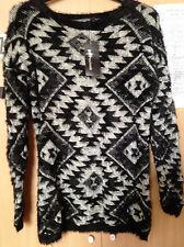 Black & Grey Fluffy Long Jumper - Size Small/ Medium - Internacionale £25