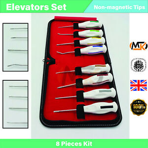 Set Of 8 Root Elevators Luxating Oral Surgery Tooth Extracting Extraction Tools