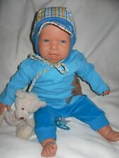 Traumdolls Babypuppen Antonio Juan Boris 50 cm mit Fläschchen Puppe Kinderpuppe