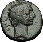 AUGUSTUS 27BC Philippi Macedonia PRIESTS Founding City Oxen Roman Coin i59298
