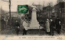 CPA PARIS 10e - Statue de Frederic Lemaitre - Canal Saint-Martin (254355)