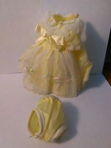 Vintage Betsy McCall yellow doll dress