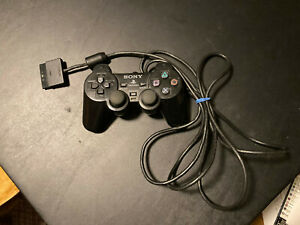 Sony Playstation PS2 Official/OEM Dualshock 2 Black Controller
