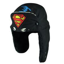 Superman Man Of Steel Printed Ear Flap Face Mask Clark Kent Cuffless Beanie Hat