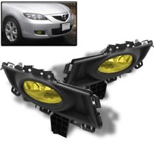 07 08 09 MAZDA 3 MAZDA3 SEDAN 4DR BUMPER FOG LIGHT LAMP KIT YELLOW W/BULB+SWITCH