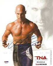 Christopher Daniels Signed 8x10 Photo Psa/Dna Coa Tna Impact Promo Wwe Roh Auto
