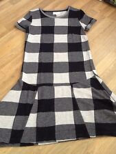 Next Ladies Size 6 Tunic Dress Check Navy Blue Used Once