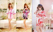 Unbranded Floral Short Kimono Nightwear for Women