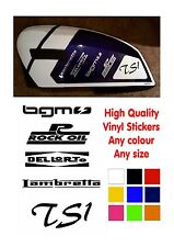Lambretta Stickers TS1 Vinyl Stickers, Rock Oil, BGM, Dellorto Lambretta Scooter