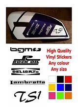 Lambretta Stickers TS1 Vinyl Stickers, Rock Oil, BGM, Dellorto Lambretta Scooter