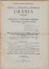 Urania, rivista, 1926, anno XV n. 3, astronomia, mineralogia, chimica, fisica