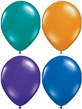 "11"" Qualatex 12-Count Jewel-Tone Latex Colors Party Event Decorating Balloons"