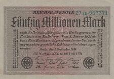 * Ro. 108b - 50 millones de Mark-Deutsches Reich - 1923-Fz: AE *