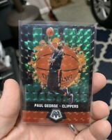 Paul George 2019-20 Panini Mosaic Green Prizm Jam Masters No. 15 Clippers