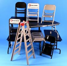WWE Mattel Elite Style TLC Playset Figure Accessory Lot Tables Ladder Chairs_Z4