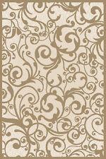 "8x8 Radici Ivory Floral Swirls Curls Area Rug Round 1845 - Aprx 7' 10 x 7' 10"""