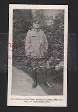 1915, Bildnis Portrait Generalstabsarzt Prof. Dr. Otto v. Schjerning WWI