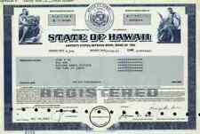 State of Hawaii Bond 1983 Honolulu County Pearl Harbor Hilo Kailua-Kona Kaneohe