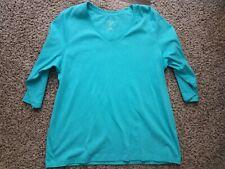 St johns bay 1x Light Teal 3 Quarter Sleeved Shirt