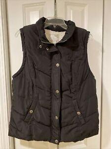 GREEN TEA Full Zip Up Sherpa Fur Lined Puffer Vest Women's Size XL