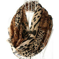 Womens Fashion Long Soft Wrap Lady Shawl Leopard Chiffon Scarf Warm Gifts/A+
