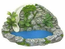 Miniature Pond with with Rock Wall and Waterslide, Fairy Garden Water Feature