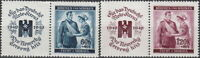 Stamp Germany Bohemia Czech Mi 053-4 Sc B1-2 1940 WWII Fascism War Era HL MNH