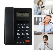 Corded Standard Phone Answering System Home Business Phone Caller ID Black US