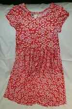 Dot Dot Smile Twirly Dress Short Sleeve Girls Size 7 Red White EUC
