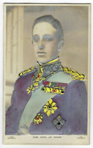 Vintage Postcard King Alfonso XIII of Spain Bas Relief Card Early 1900's
