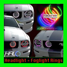 2005-2009 ORACLE FORD MUSTANG COLORSHIFT LED HEADLIGHT+FOGS HALO KIT w/REMOTE