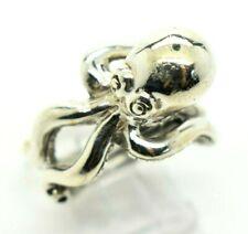 Octopus Design 3D Cute Sterling Silver 925 Ring 13g Sz.12 DD082