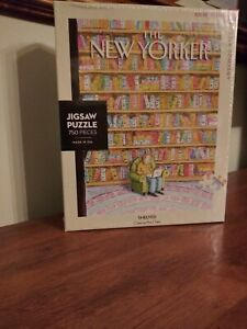 """New Yorker """"Shelved"""" 750 Piece New York Puzzle Company Jigsaw - NEW"""