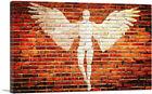 ARTCANVAS Angel Graffiti on Brick Wall Canvas Art Print