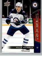 2019-20 UD NHL Rookie Box Set #20 Ville Heinola Winnipeg Jets Hockey Card