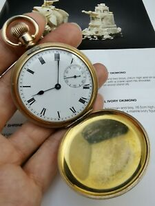 Fine Quality Gold plate Waltham Pocket Watch  Fully Working -Excellent condition