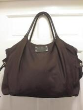 $398 KATE SPADE Deep Brown STEVIE Nylon LARGE DIAPER BAG Tote Purse BARELY USED!