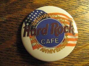 Hard Rock Cafe Washington D.C. USA 5th Anniversary 1995 Restaurant Lapel Hat Pin