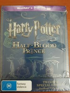 HARRY POTTER AND THE HALF BLOOD PRINCE STEELBOOK BLU RAY -NEW & SEALED FREE POST