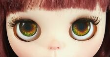 Blythe Doll Realistic Glass Eye Chips - Brown and Green EyeChips US SELLER