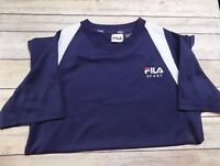 FILA Sport Boys Athletic Shirt Size L Short Sleeves Blue