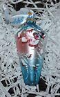 New DeBrekht WINTER BIRDS Diamond Scenic Glass Ornament