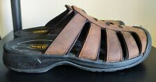 Men's KEEN Brown Nubuck Leather Sandals/Slides, Size 12... GREAT Condition!
