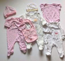 Baby Girls 0-3 Months X4 Disney Winnie The Pooh Baby Grows X2 Hats 1x Bib Bundle