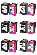 Ink Cartridge Combo  For HP 60XL 61XL 62XL 63XL 64XL 65XL With