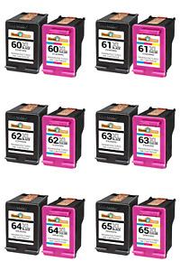 Ink Cartridge Combo For HP 60XL 61XL 62XL 63XL 64XL 65XL With